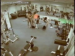 Hot Threesome at the Gym gets Filmed