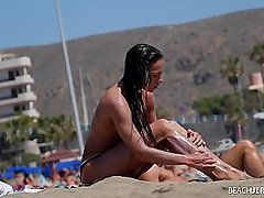 Hot Hard Bodied Milf on Topless Beach