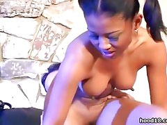 Black school girl fucking an older man