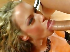 Mckenzie Lee gets her mouth stuffed with hard cock