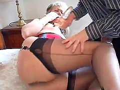ALEX IS A SEXY BRITISH MILF WHO LOVES TOYS AND DUCKING COCK IN STOCKINGS