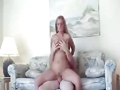 Horny amateur bounces her wet pussy on this hard dick