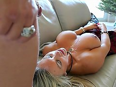 Busty Mom Plays With Hard Dick