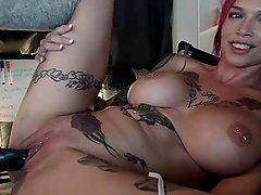 Big Tits MILF Machine Fucking to Orgasm on Webcam Vol.1 - sherrilivecam@gma
