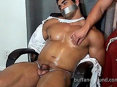 Buff Muscle Hunk Tie up