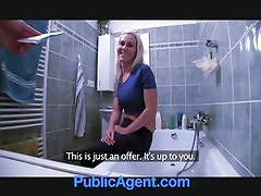 PublicAgent Fit hot Babe needs a plumber