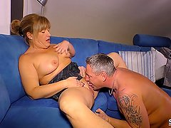 SexTape Germany - German blonde housewife is fucked hard in a hot sex tape