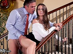 PrettyDirty Horny Interns Battle on Cock