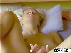 Innocent Blonde Teen Playing With Her Pussy