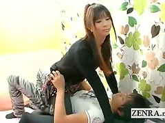 Subtitled bizarre Japanese street pickup dry humping