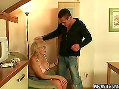 Nasty granny filthy games with huge young boner