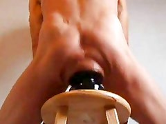 Humongous Ass Stretching Butt Plug Fuck