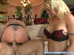 Hot threesome with bi babes in free tube video
