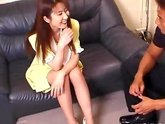 Cutebashful Asian gets slowly turned on