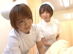 Horny Nurses Play with Cock