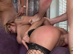 Wild Threesome With The Slutty Renae Cruz Wearing Sexy Lingerie
