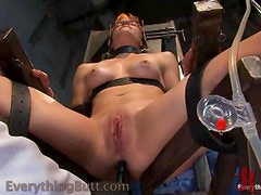 Naughty Redhead Loves Pussy Torture