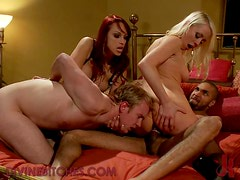 Kinky Sluts enjoy Hardcore Gangbang for Dessert