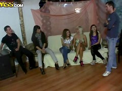 Hardcore Party Orgy between Horny Girls
