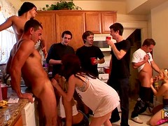Taisa And The Rest Of Her Slutty Friends Cook Up A Hot Orgy