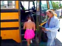 Slutty school girl fucked on the school bus