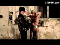 Esclavo - Blonde Slave Getting Her Tits Tortured With Buckets Spanked Whipped By Master