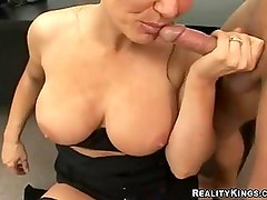 Bih Tit Wench Elle Cee Bent Over Gettting A Deep Pussy Drilling With Thick Weenie