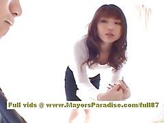 Risa Kasumi asian teen gets her hot pussy licked