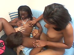 Ebony sluts show off their cock riding skills