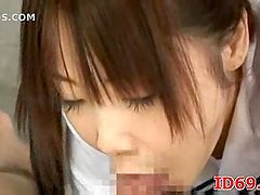School Girl vacuum fellatio