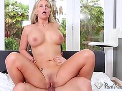 PURE MATURE Aged with experience blonde Phoenix Marie fucked