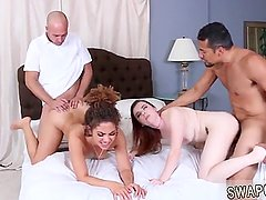 Step dad and sexy friends step daughter The