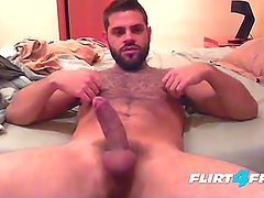 Bearded Guy Fingers His Ass Before Cumming Hard