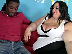 Fat and whimsical Deserie is here to have interracial sex fun