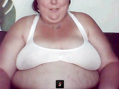 Fat ugly chick shows everything on webcam
