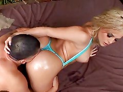 Oiled butt creampie