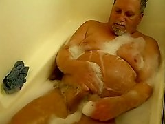 man in a solo scene in the bath