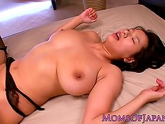 Facialed japanese milf spanked and fucked