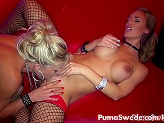 Euro Babe Puma Swede Finds Hot Stripper to Fuck!
