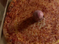 Hungry Brunette Khloe Kush Orders a Salami Flavored Pizza