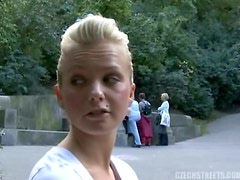 Fucking A Hot Blonde Girl's Shaved Pussy In Public