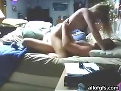 Amateur Blonde Goes Hardcore On A Bed