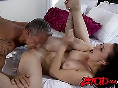 Aidra Fox and Marcus London Fucking on Bed