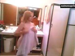 My naked sister caught on hidden camera