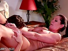 LesbianOlderYounger Magdalene Explores Sensuality