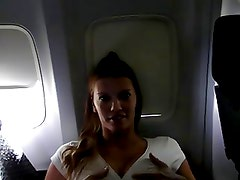 Girl Masturbates on the Plane