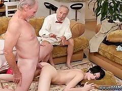 Bisexual old couple and young man Frannkie