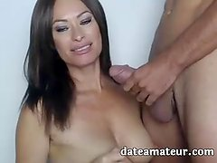 Horny MILF from dateamateur enjoys deepthroat