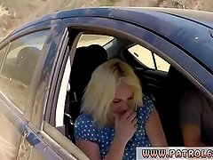Oil cops Blonde stunner does it on the