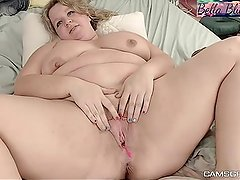 Magnificent Bbw Shows Off Her Good Bits Before Masturbating With Her Toy